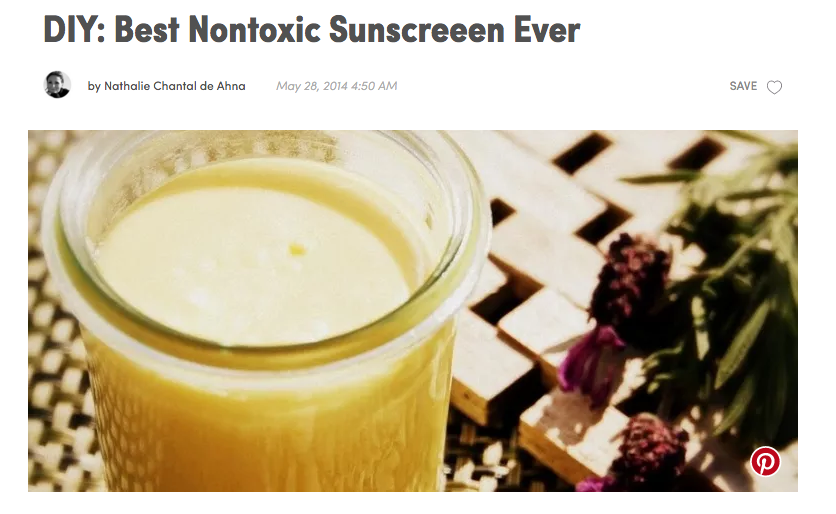DIY Sunscreen